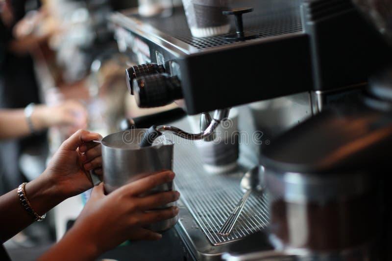 Máquina do café fotografia de stock