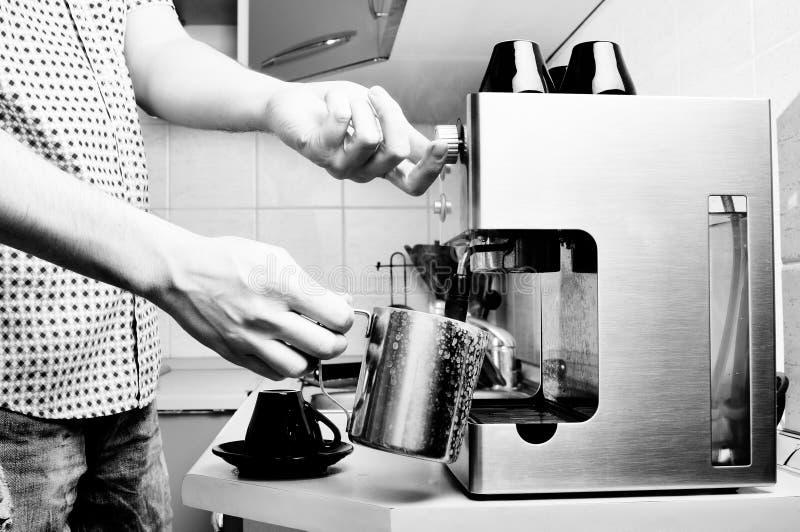 Máquina do café. fotografia de stock