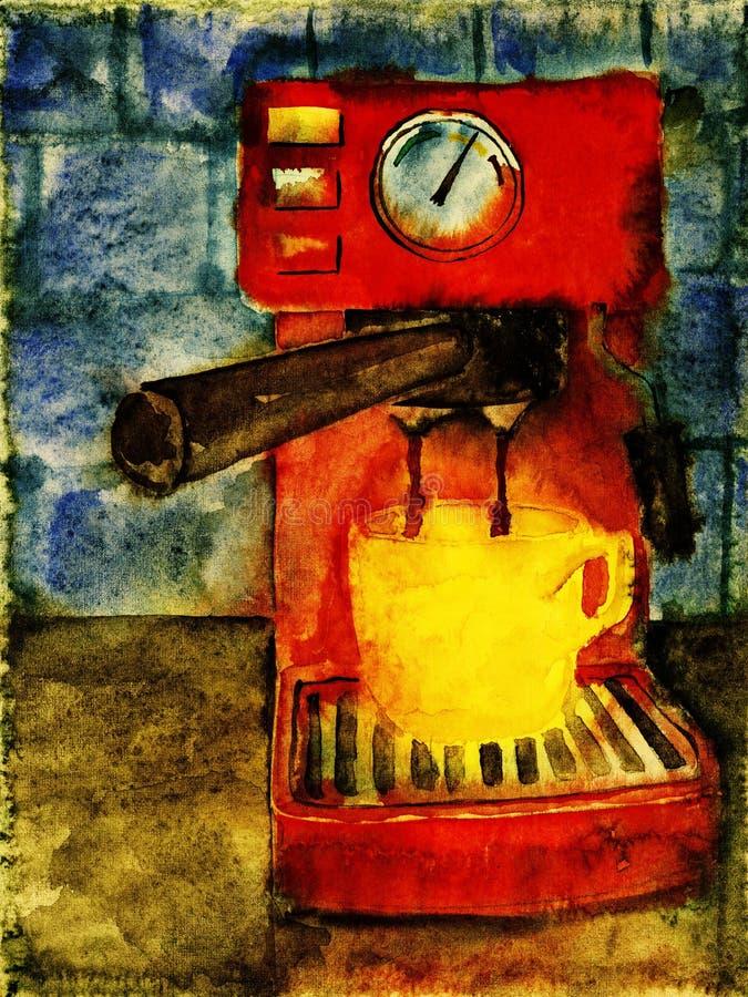 Máquina do café. ilustração stock