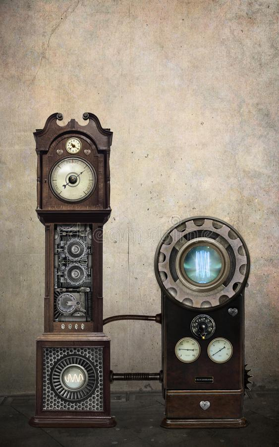 Máquina do tempo de Steampunk imagens de stock royalty free