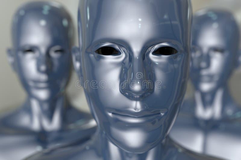 Máquina dos povos - inteligência artificial. ilustração royalty free