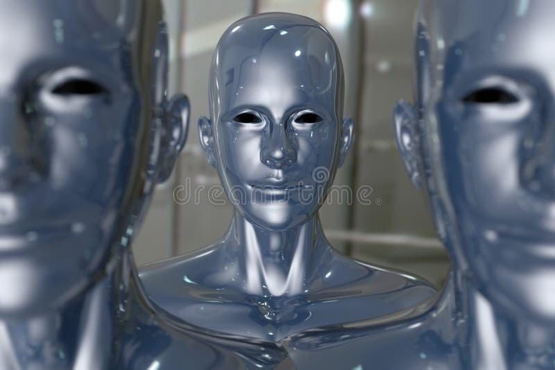 Máquina dos povos - inteligência artificial. ilustração do vetor