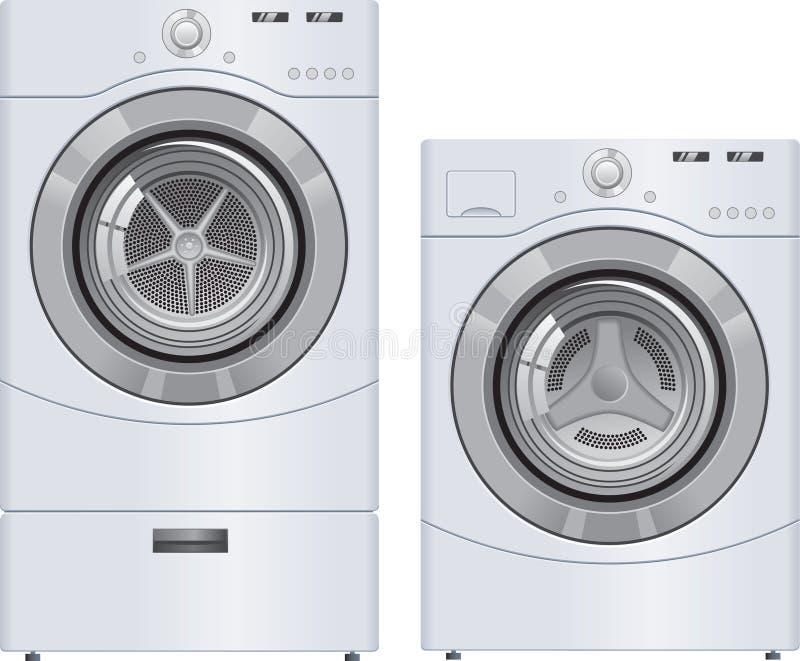 Máquina e secador da lavagem ilustração do vetor