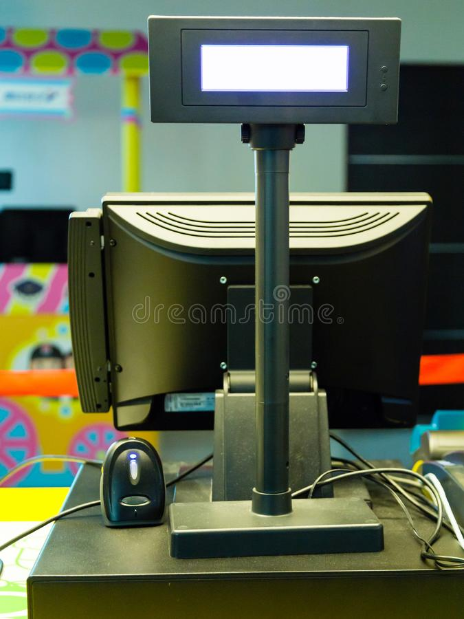 Máquina electrónica del punto de venta imagen de archivo