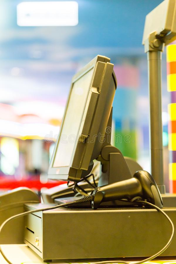 Máquina electrónica del punto de venta imagenes de archivo