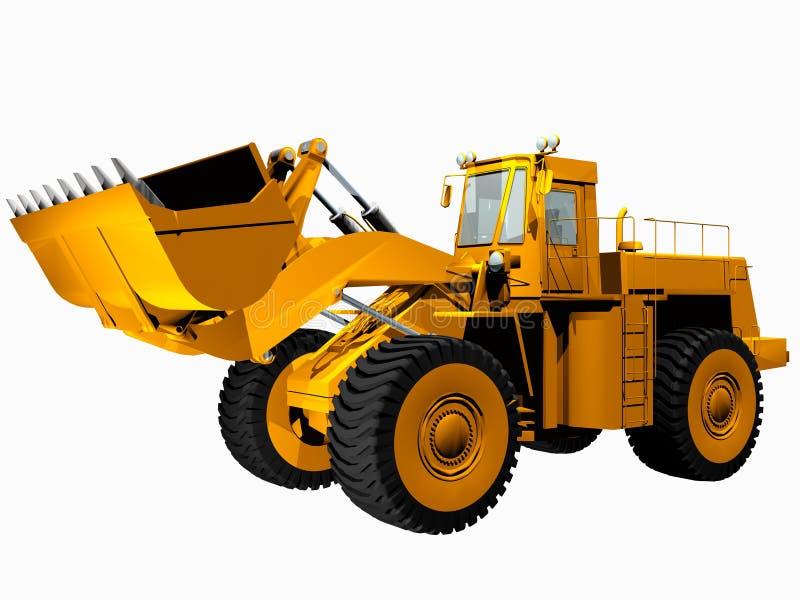 Máquina escavadora ilustração royalty free