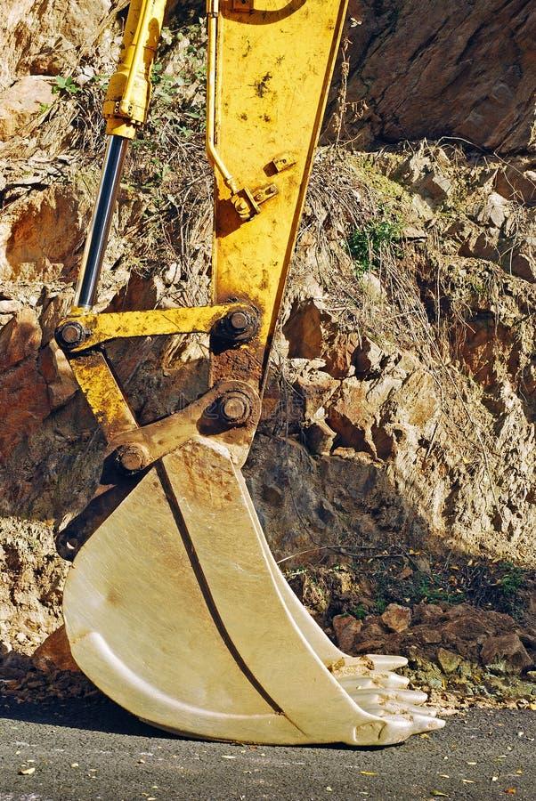Máquina escavadora Bucket imagem de stock royalty free