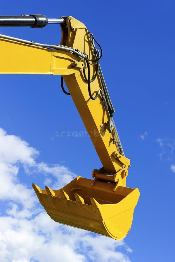 Máquina escavadora Bucket imagens de stock