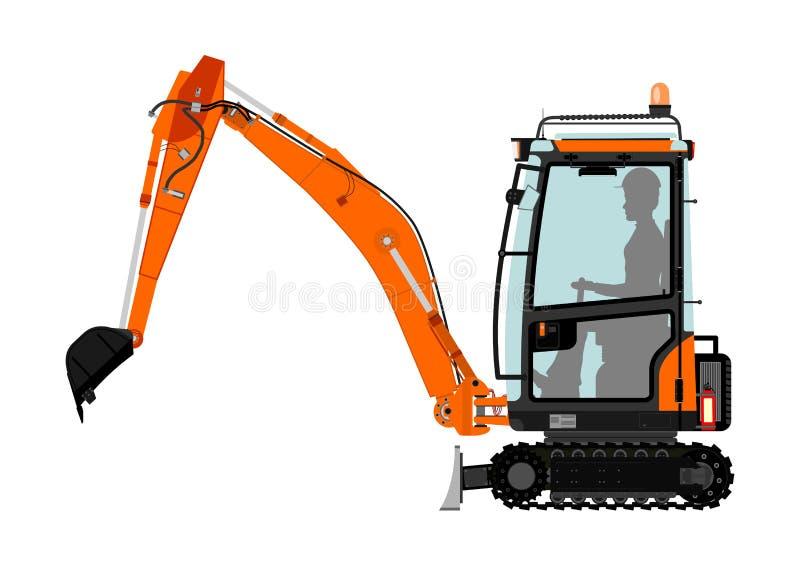 Máquina escavadora compacta ilustração stock