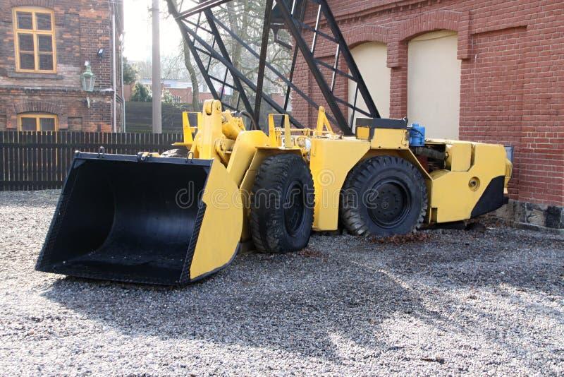 Máquina escavadora da mina foto de stock