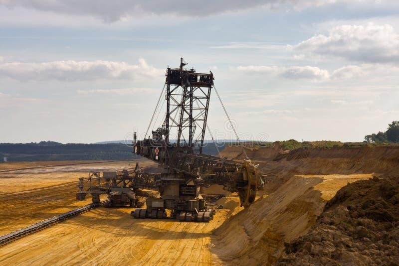 Máquina escavadora de roda de cubeta gigante fotografia de stock