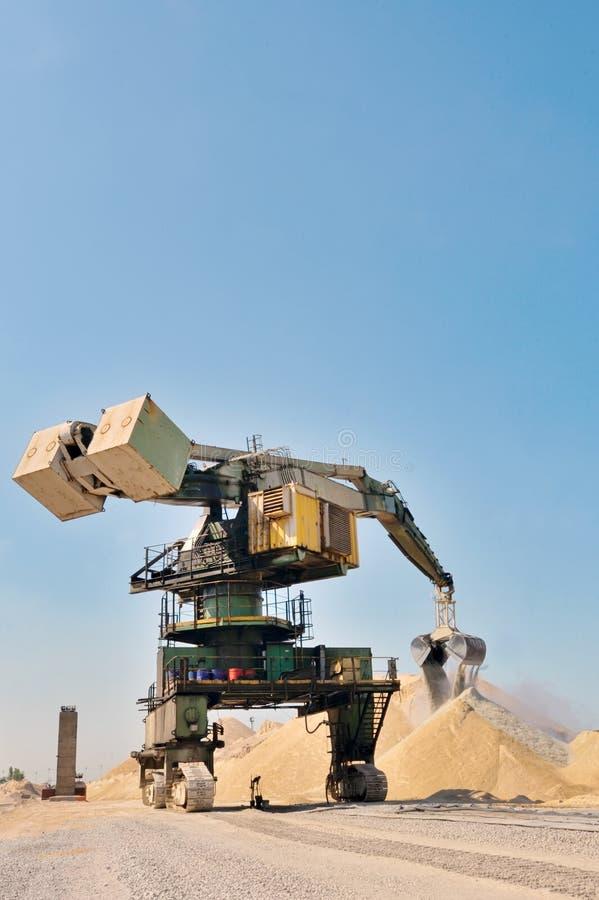 Máquina escavadora de roda de cubeta gigante fotos de stock royalty free