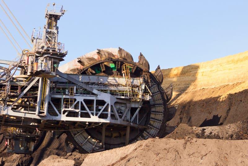 Máquina escavadora de roda de cubeta gigante imagens de stock royalty free