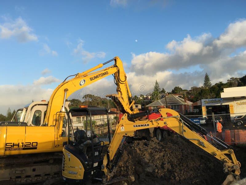 Máquina escavadora do escavador mecânico imagem de stock