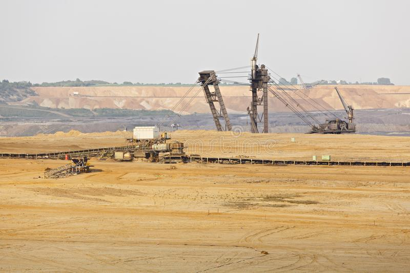 Máquina escavadora gigante In Pit Mine da Cubeta-roda imagem de stock royalty free