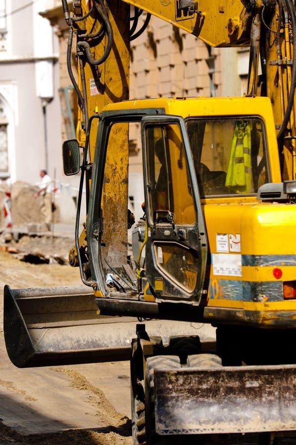 Máquina escavadora grande imagem de stock royalty free