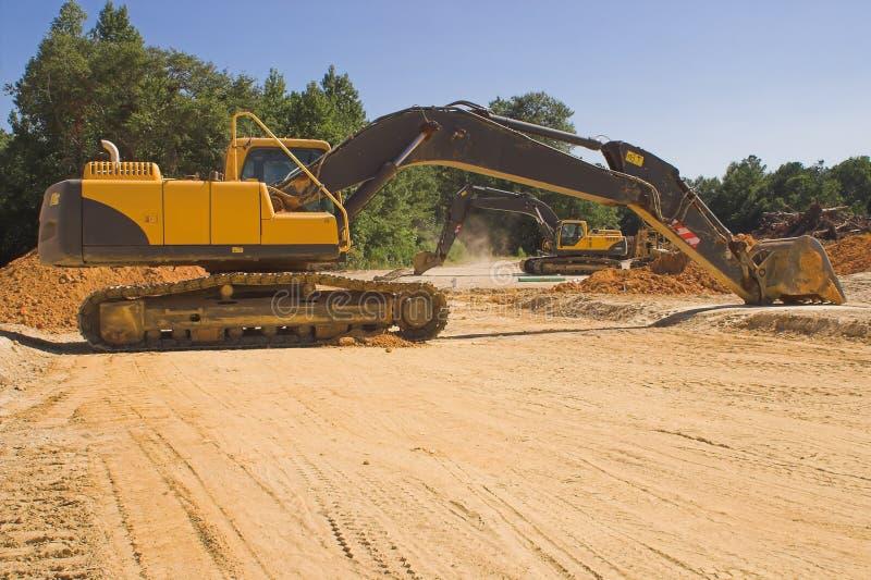 Máquina escavadora industrial imagem de stock royalty free
