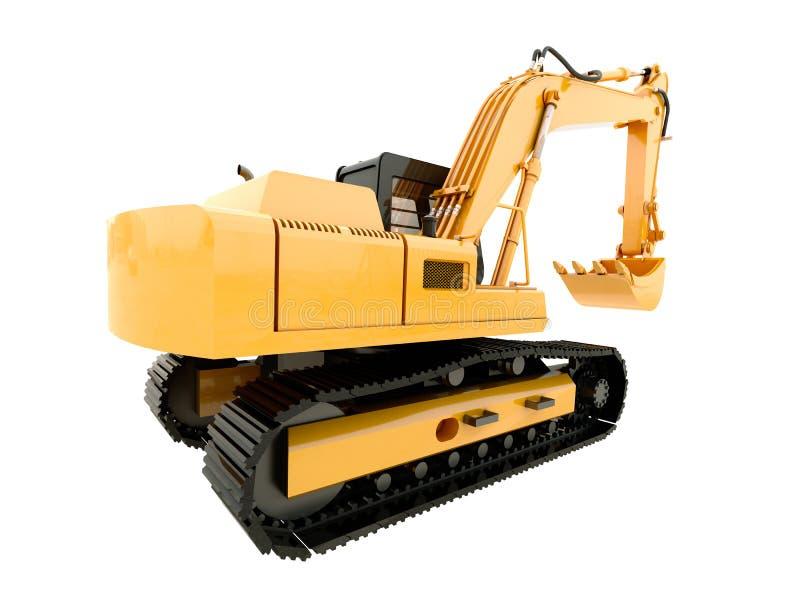 Máquina escavadora isolada ilustração royalty free