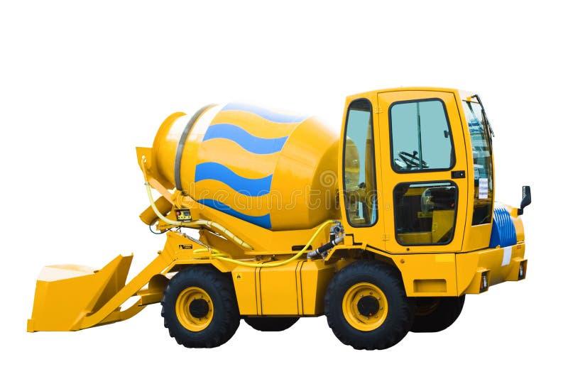 Máquina escavadora, isolada no branco fotos de stock royalty free