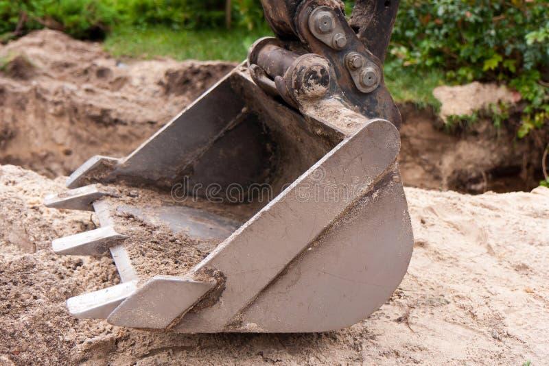 Máquina escavadora pequena imagem de stock