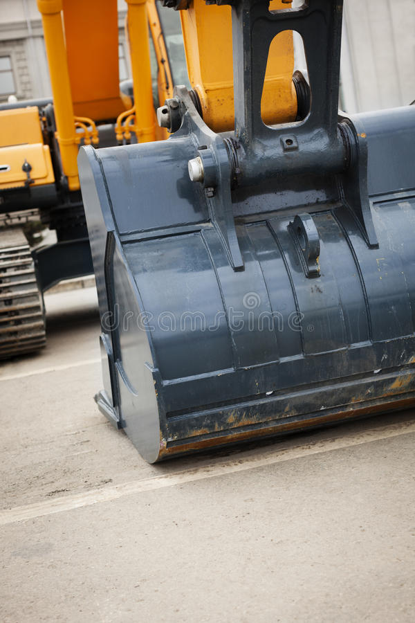 Máquina escavadora pesada fotos de stock royalty free