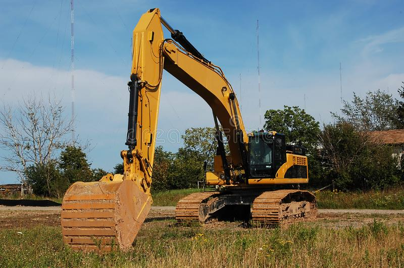 Máquina escavadora pesada. fotografia de stock royalty free