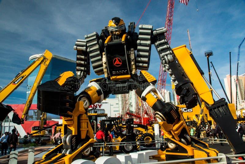 Máquina escavadora Robot imagem de stock royalty free