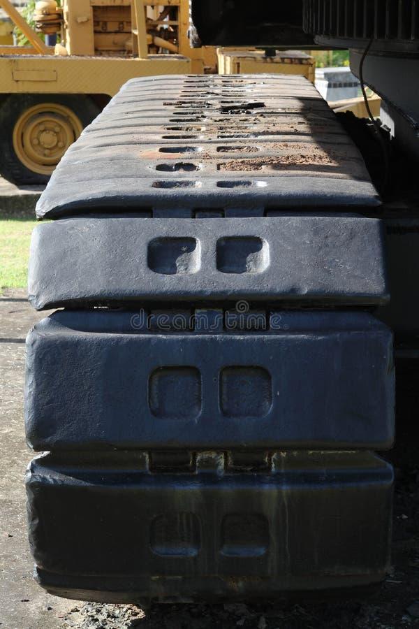 Máquina escavadora velha da carreira no extração de carvão imagem de stock royalty free