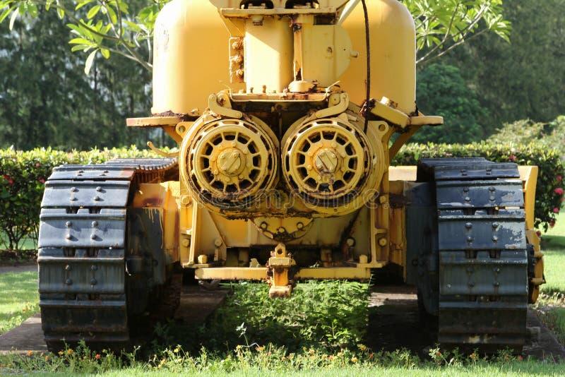 Máquina escavadora velha no extração de carvão foto de stock royalty free