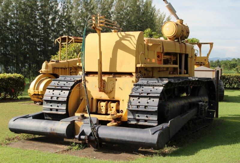 Máquina escavadora velha no extração de carvão fotografia de stock royalty free