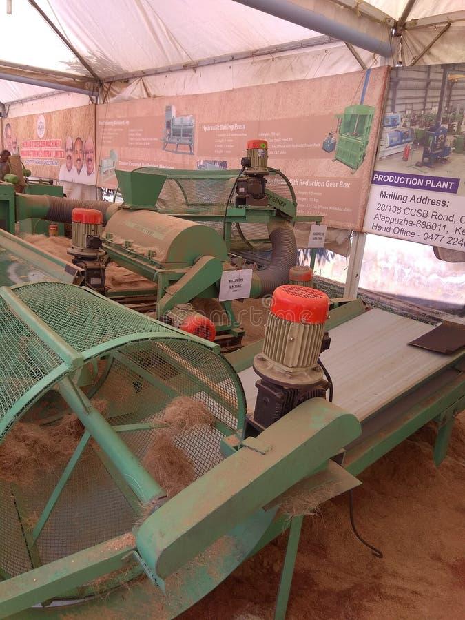 Máquina fibering del De foto de archivo