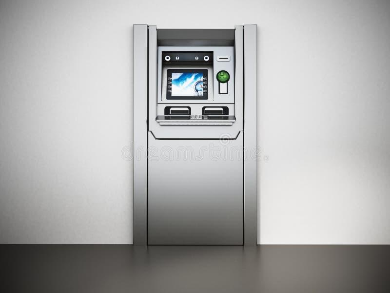 Máquina genérica de la atmósfera o del cajero automático ilustración 3D ilustración del vector