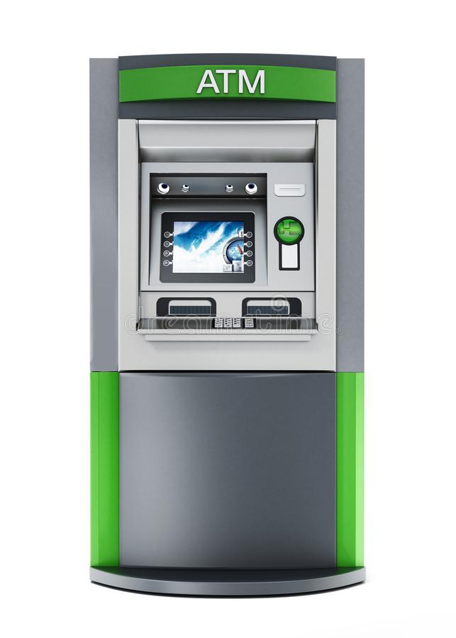 Máquina genérica de la atmósfera o del cajero automático ilustración 3D stock de ilustración