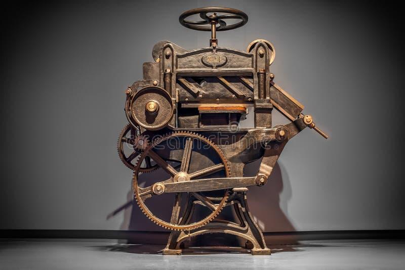 Máquina impressora antiga fotos de stock royalty free