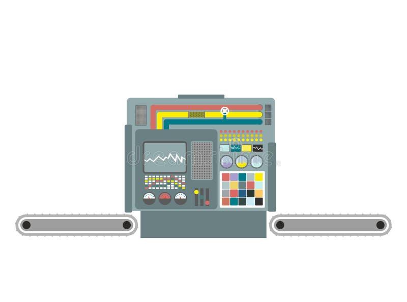 Máquina industrial Fábrica del material de construcción Produc del panel ilustración del vector