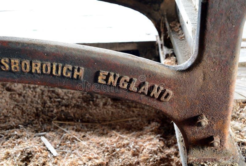 Máquina inglesa vieja en el estado Herberton fotos de archivo