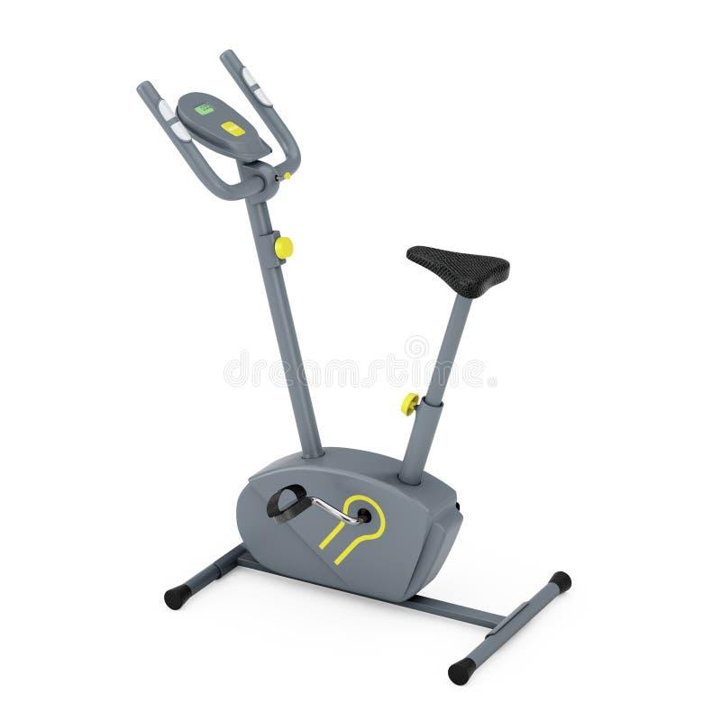 Máquina inmóvil del gimnasio de la bicicleta estática representación 3d ilustración del vector