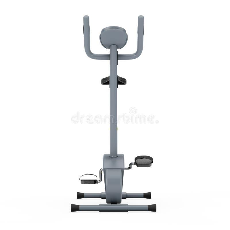 Máquina inmóvil del gimnasio de la bicicleta estática representación 3d stock de ilustración