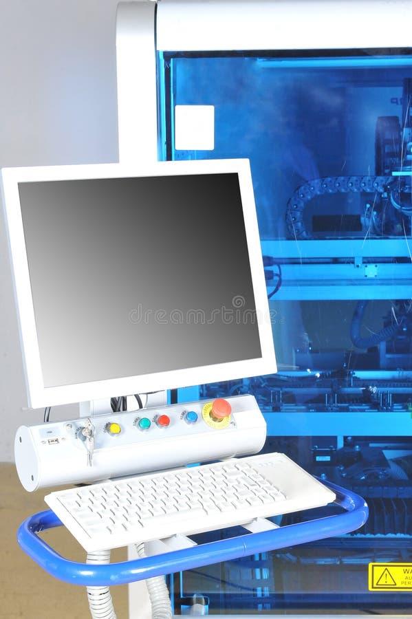 Máquina moderna del panel de control  imagen de archivo libre de regalías