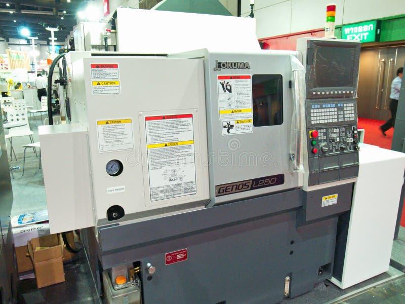 Máquina nova em Metalex 2014, o orgulho de asean, Tailândia foto de stock royalty free