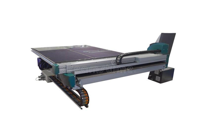 Máquina para cortar el vidrio monolítico imagen de archivo libre de regalías