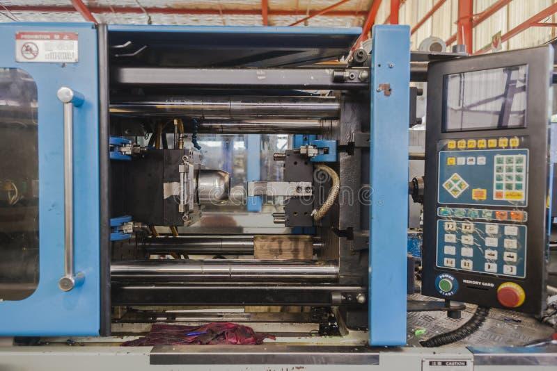 Máquina plástica de la inyección del moldeado foto de archivo