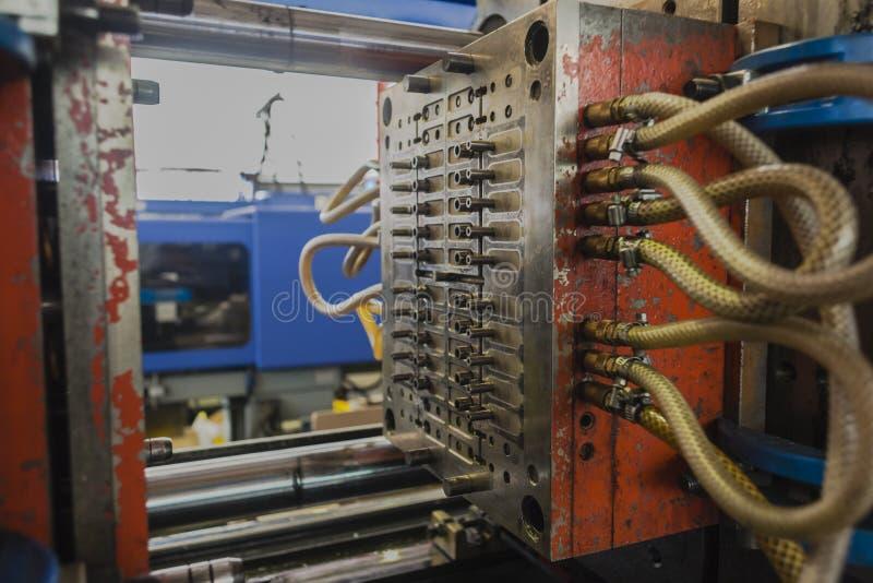 Máquina plástica de la inyección del moldeado fotos de archivo libres de regalías