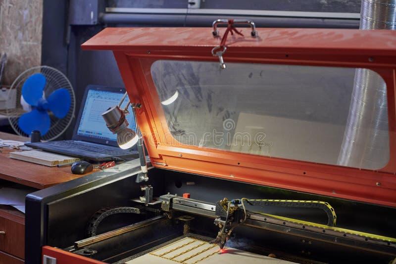 Máquina polvorienta del laser fotografía de archivo