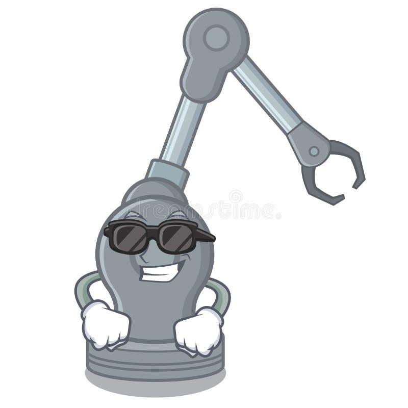 Máquina robótica del brazo del juguete fresco estupendo en forma de la historieta stock de ilustración
