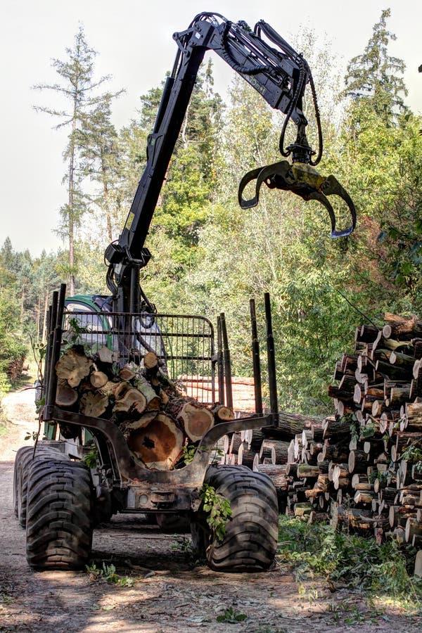 Máquina segador del bosque imágenes de archivo libres de regalías