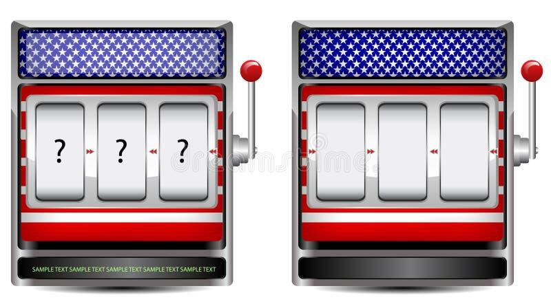 Máquina tragaperras abstracta de América ilustración del vector