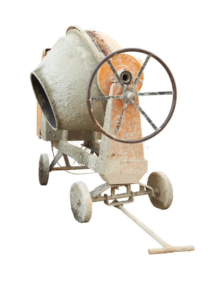 Máquina velha e suja do misturador de cimento imagens de stock