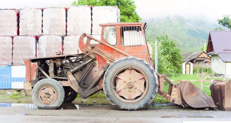 Máquina velha para escavar imagem de stock royalty free