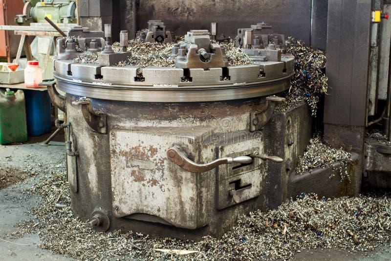 Máquina vieja del torno imagen de archivo libre de regalías